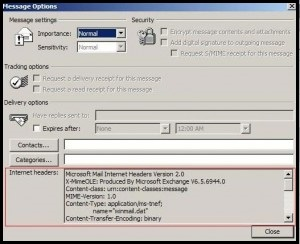 How To Retrieve Email In Outlook >> How To Retrieve Email Headers In Outlook 2003 Westhost