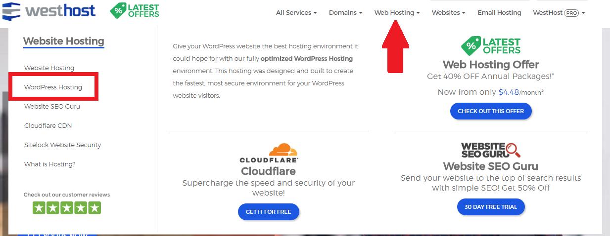 wordpress hosting trial